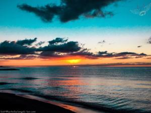 sunset beach photo marbella spain