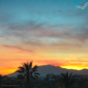 beautiful sunset today photo, Marbella Spain