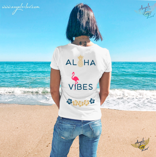 Summer vibes beach t shirt woman