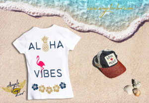 aloha vibes t shirt women summer vibes