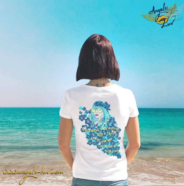 wild free as the ocean quote atticus t shirt woman