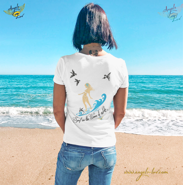 Surfer Girl Hula T shirt woman