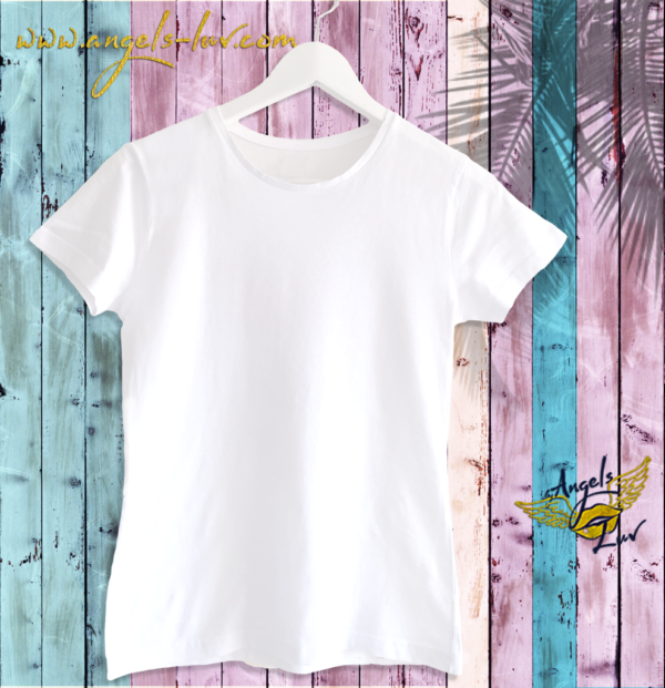 white cotton round neck t shirt women