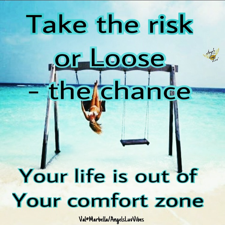 take the risk, take the chance