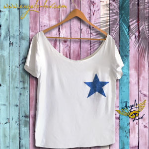 Star t shirt, The Star woman T Shirt, Blue Star T shirt, tee shirt
