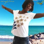 Star t shirt, shooting stars t shirt, falling star t shirt