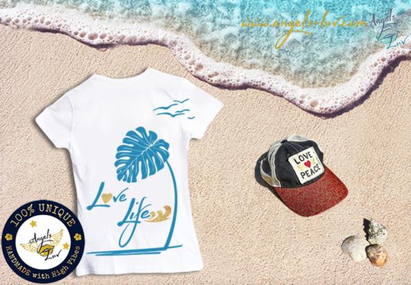 love life t shirt summer beach girls