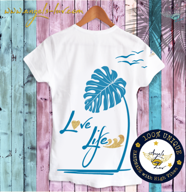 love life inspired t shirt white cotton