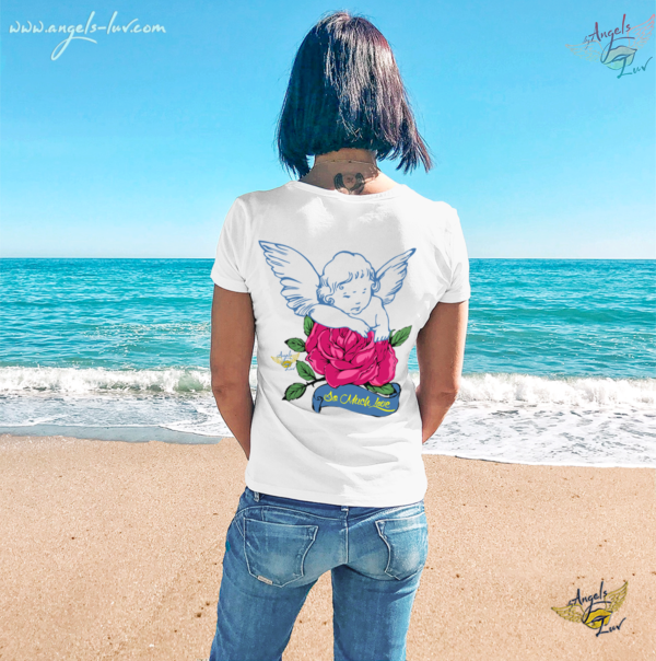angel love vibes t shirt women