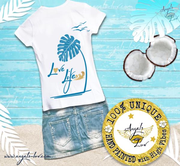 love life tropical t shirt wild women