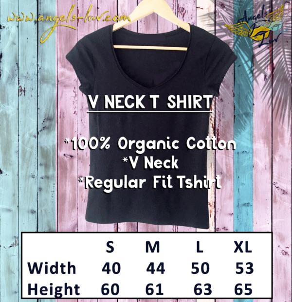 V Neck fit woment organic shirt
