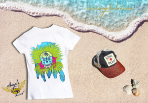 Dead skull vibes t shirt tropical beach