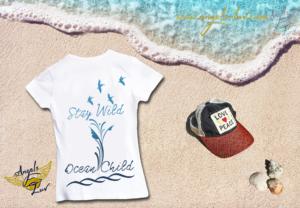 Wild Child Ocean Beach girls cotton t shirt