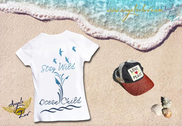 Ocean surfer wild girls cotton t shirt