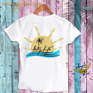 salty life t shirt women