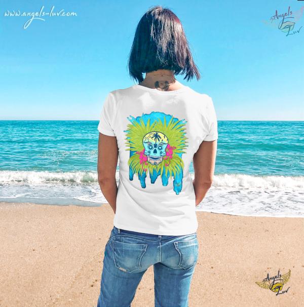 female skull t shirt summer vibes