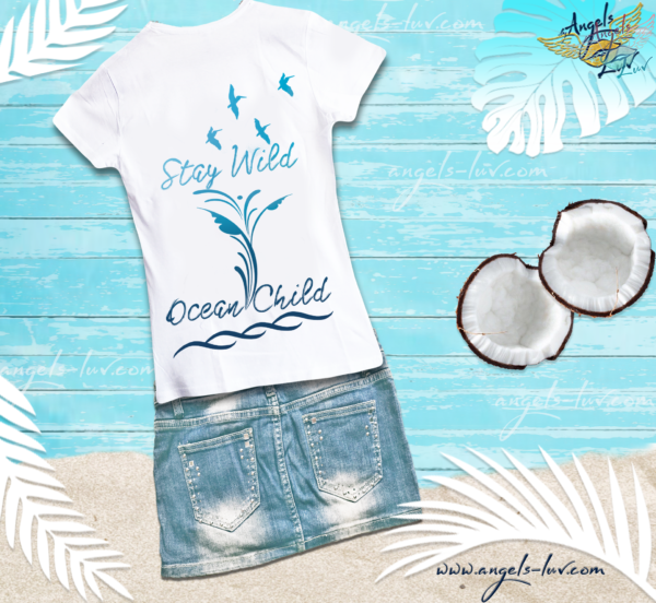 stay wild child ocean quote t shirt
